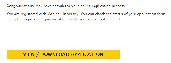 Manipal Univesity Application Complete