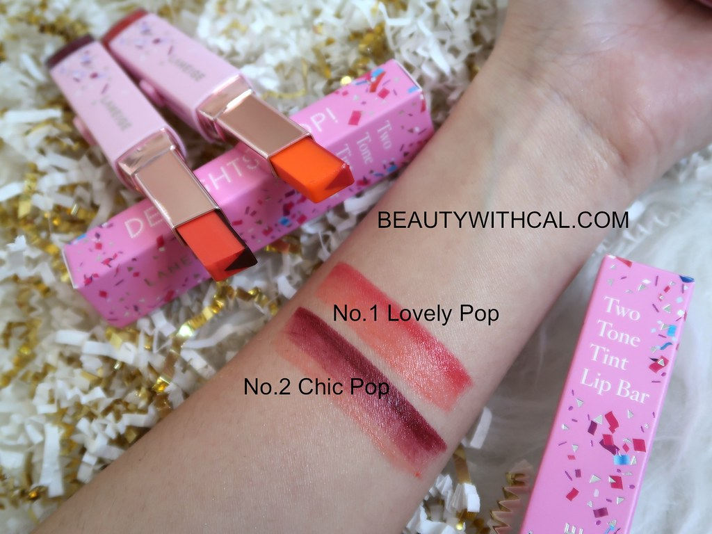 Names Swatches Holiday Two Tone Tint Lip Bar