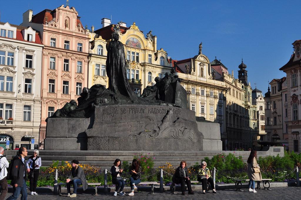 Monument à Jan Hus (1915), Staroměstká náměstí, Stare Mesto, Prague, République tchèque.