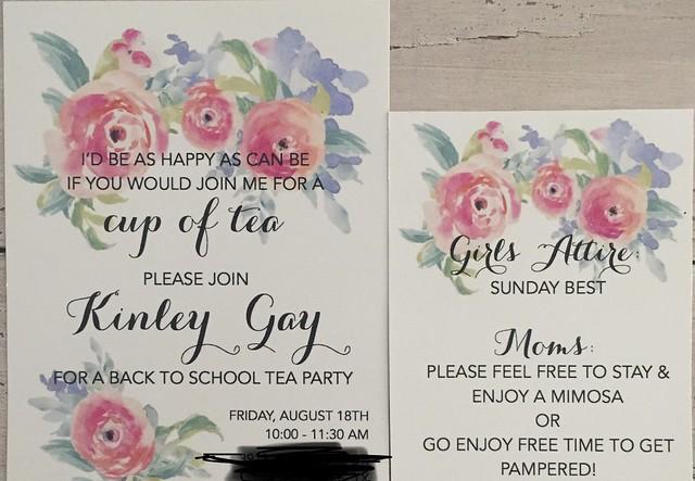 Kinley's tea party