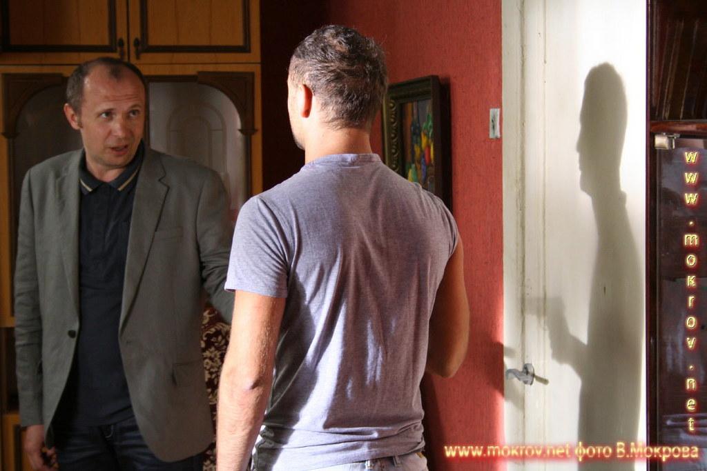 На съемках Телесериала «Шахта» фотография