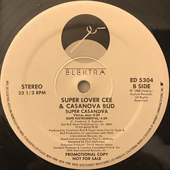 SUPER LOVER CEE & CASANOVA RUD:SUPER CASANOVA(LABEL SIDE-B)