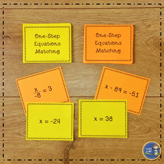 after tests: things for early finishers to do after a test; one step equations matching