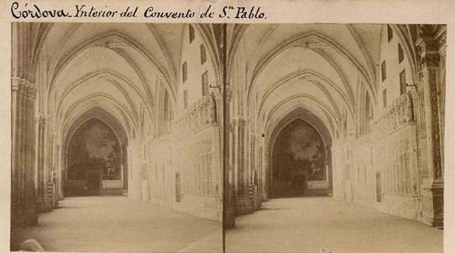 Claustro de la catedral de Toledo en 1858 por Louis Léon Masson