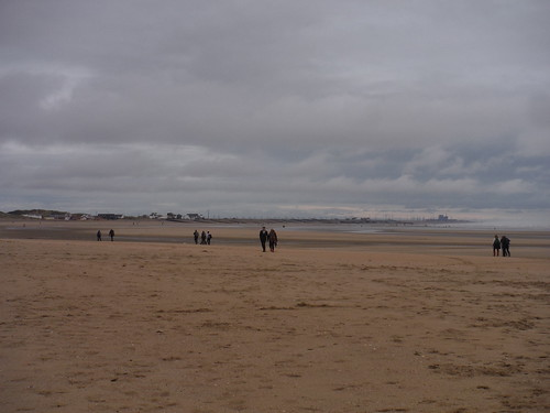 Camber Sands, with Dungeness Power Plant in Distance