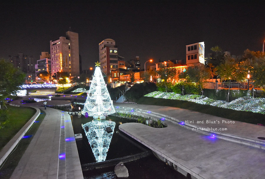 柳川藍帶水岸.聖誕節.台中景點10