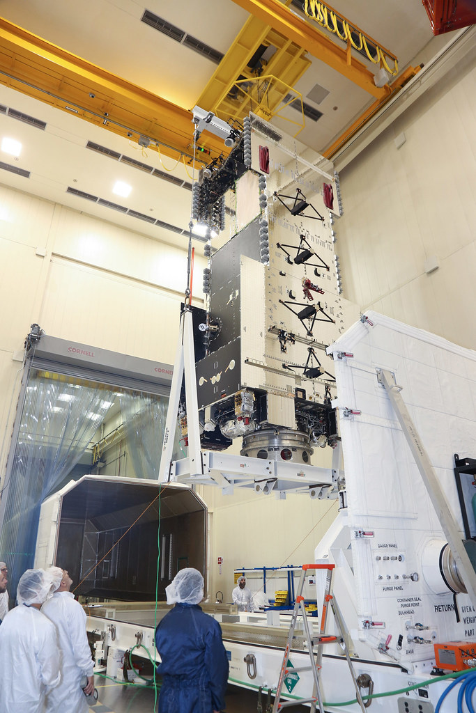 Hellas-Sat-4 Load into Container