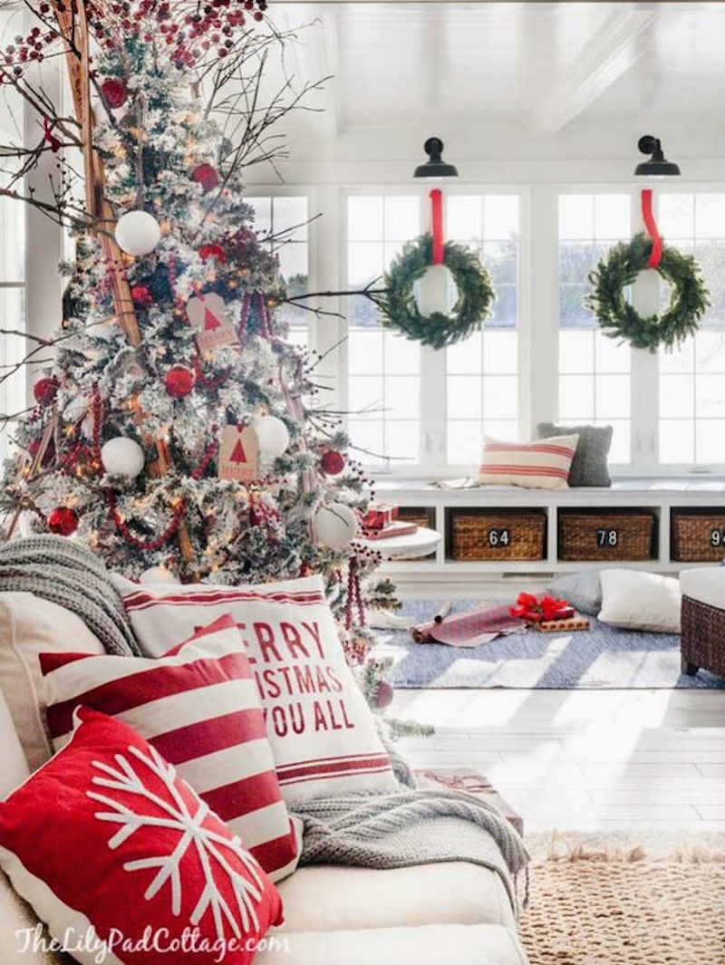Cozy Ski Lodge Inspired Christmas Decorations Living Room Holiday Decor