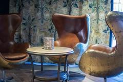 Designer Sessel in der Bar