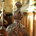 Checkley, Staffordshire, St. Mary & All Saints' church, chancel, stalls, finial