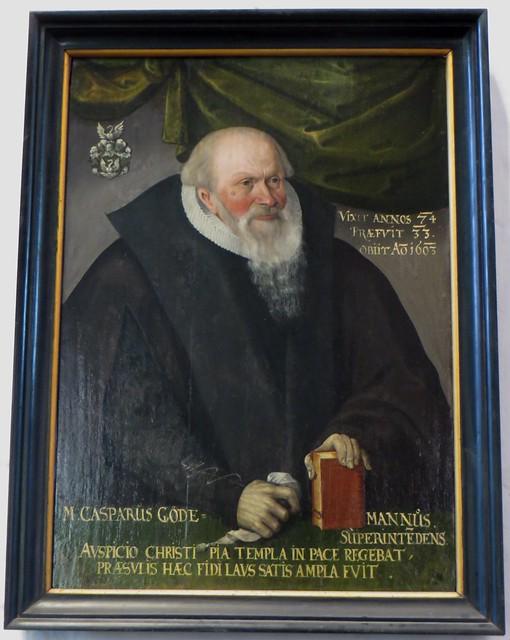 Honneur à Casparus Göde, église-halle gothique (XIVe-XVe) St Johannis, Lunebourg,  Basse-Saxe, République Fédérale d'Allemagne.