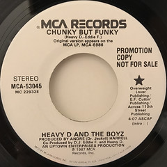 HEAVY D. AND THE BOYZ:CHUNKY BUT FUNKY(LABEL SIDE-B)