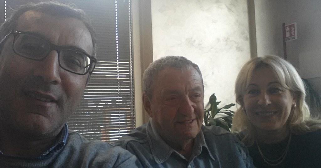 Clodomiro Tarsia giornalista e scrittore salernitano con Pino D'Elia di Radio Alfa