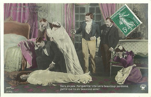 Sarah Bernhardt in La dame aux camélias