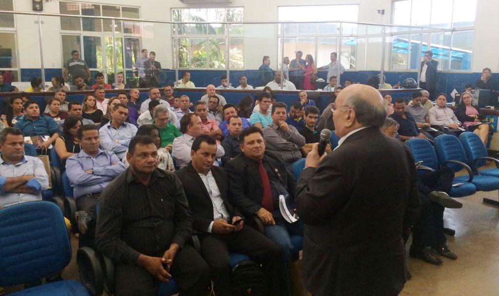 Vereadores de Óbidos participam de encontro promovido pelo Senado em Santarém, obidos com flexa ribeiro
