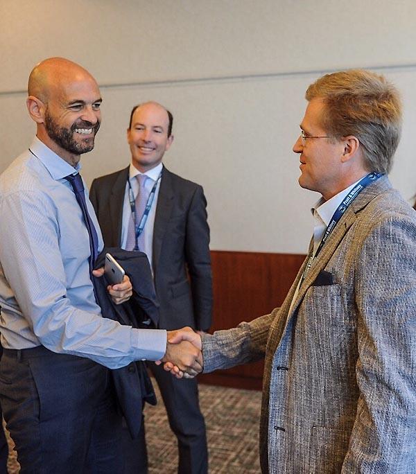 Sky, Holger Paulmann y ministro Dietrich en ALTA 2017 (Sky)