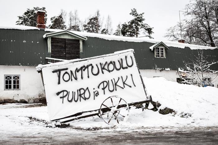 strömforsin ruukin joulu 2017 ruukki ruotsinpyhtää talvella talvi maisema vanha navetta _