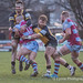Toby Williams drives the Ealing defenders backwards-3929