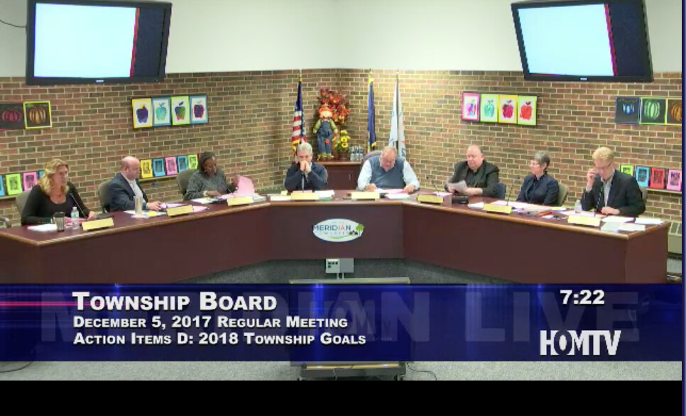 2018 Township Goals Approved by Board