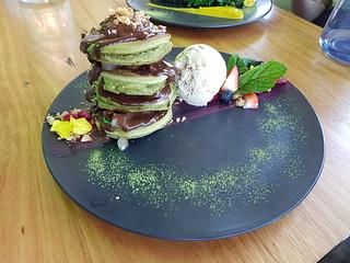Matcha pancakes at Matcha Mylkbar