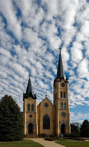 catholicchurch church architecture building sky clouds