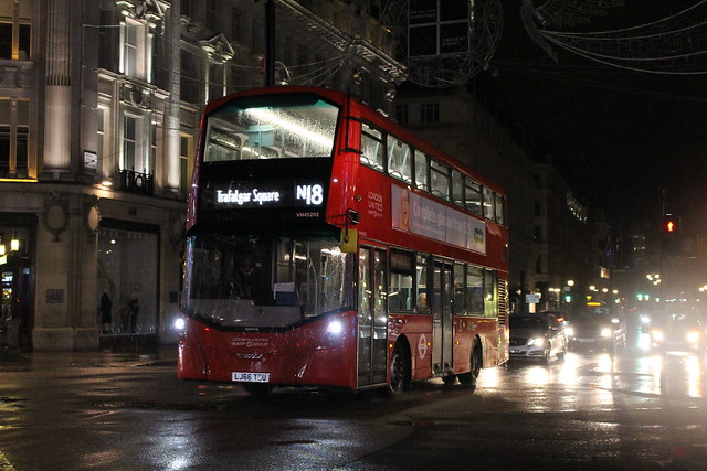 London United VH45202 on Route N18, Oxford Circus