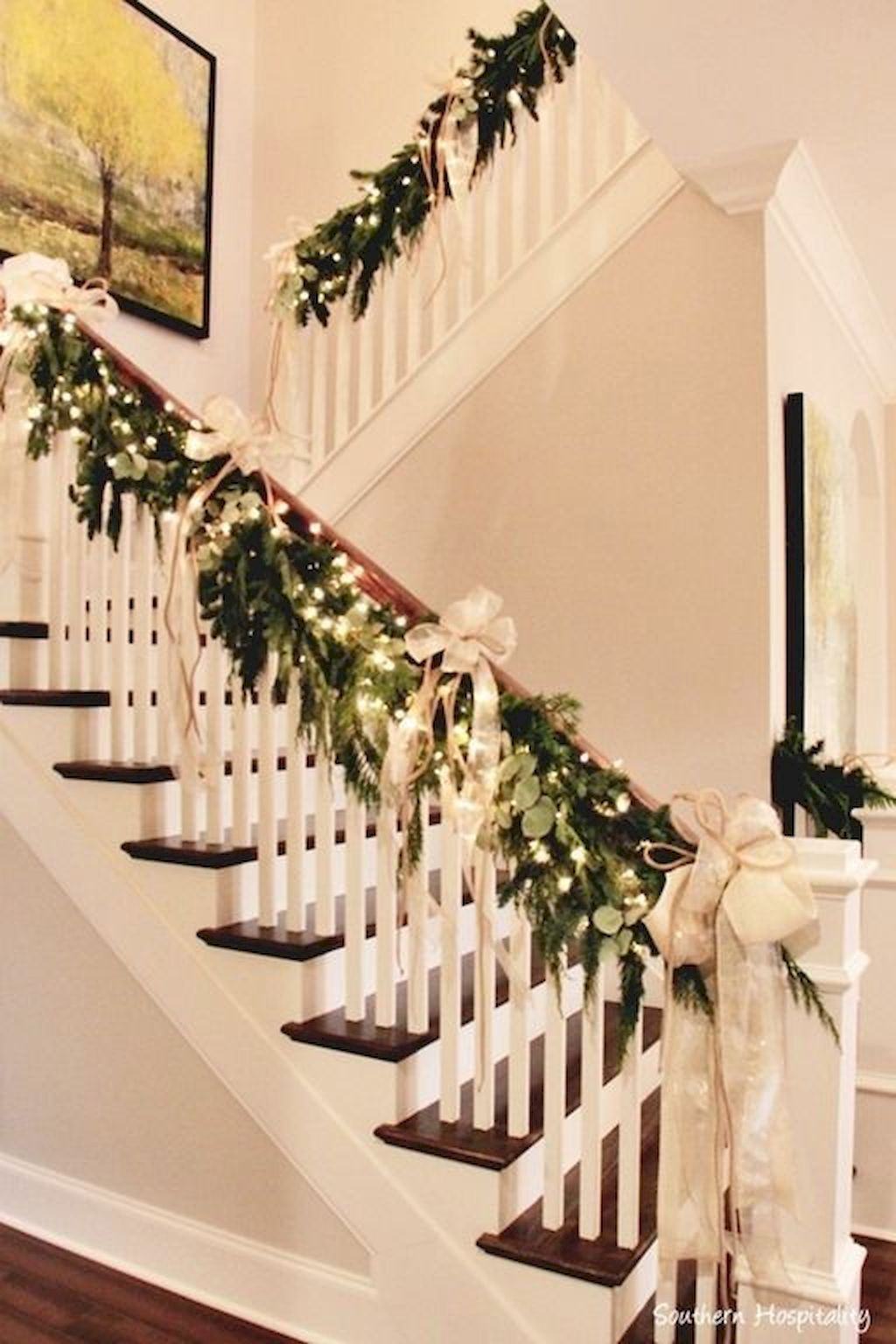 Holiday Staircase Railing Garland Christmas Decorations