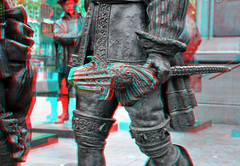 Statues Nachtwacht Amsterdam 3D