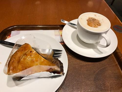 アップルパイと金胡麻ミルク珈琲
