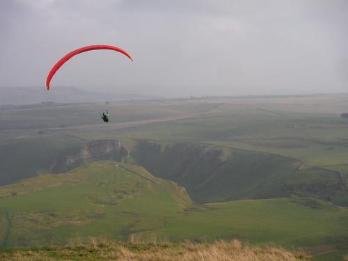 Paraglider and Winnats Pass