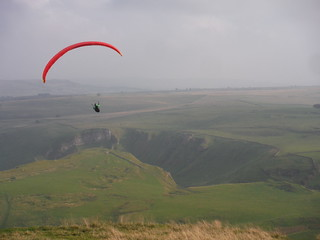 Paraglider and Winnats Pass
