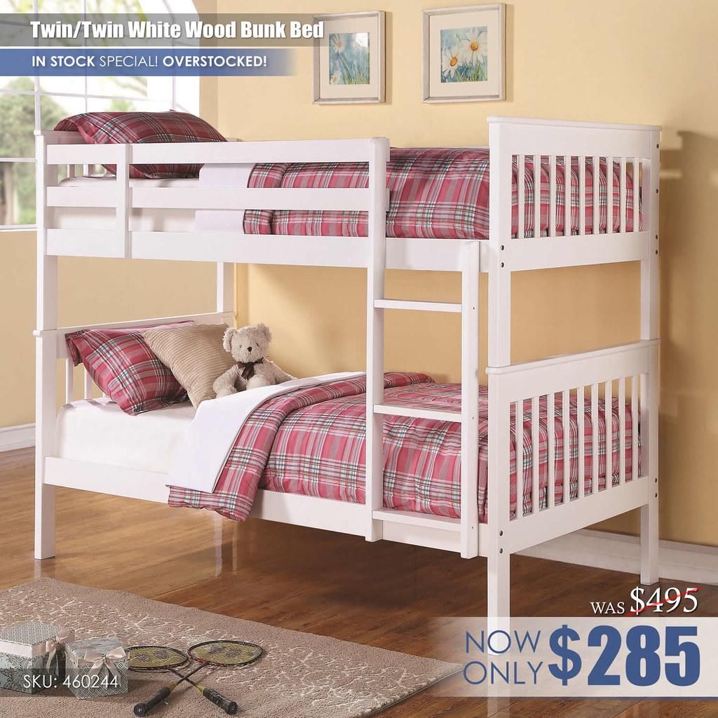Coaster White Bunk 460244