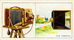 Wills's Cigarette Card - The Camera (front)