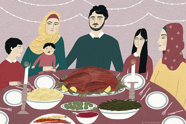 Syrian refugee family's first Thanksgiving
