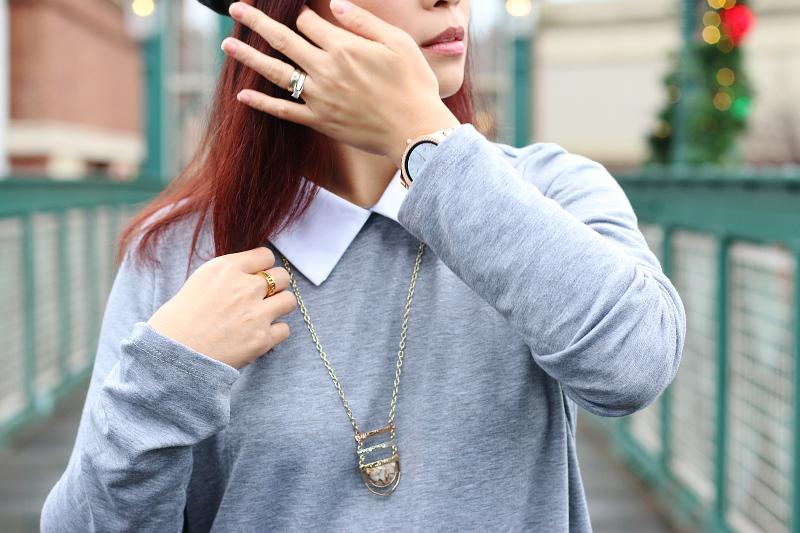 gray-shirt-dress-collar-long-necklace-4