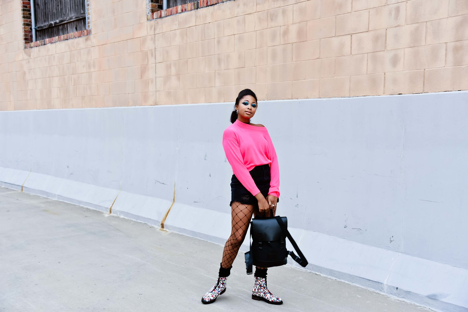 how to wear floral print boots, candace hampton