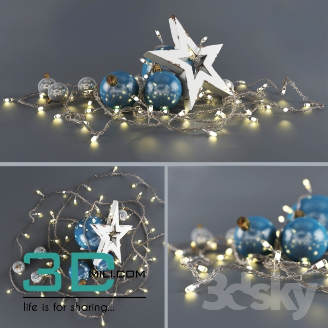 Christmas Decor 9 3dmodel Free Download