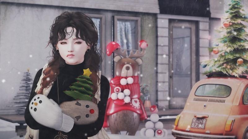 鼻の下の長い熊吉は雪玉名人( ⁰⊖⁰ )