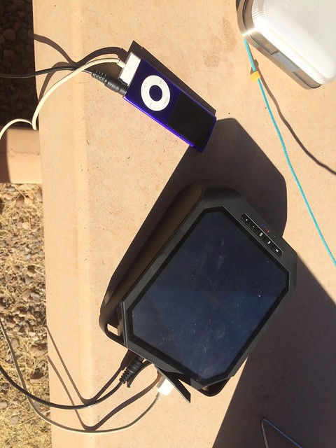 Gila Box Riverview Campground solar charging music box