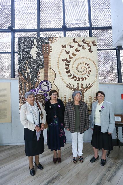 Mural en Crin de Rari en Museo Violeta Parra