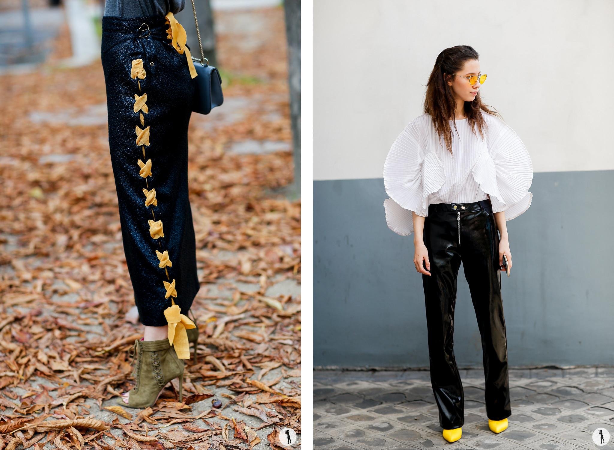 Close up and Liza Gysevskaya - Paris Fashion Week SS18