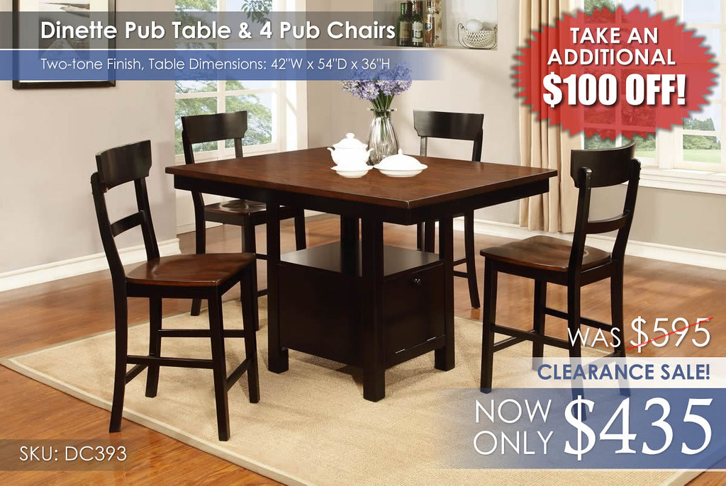 Lifestyle Pub Dinette Set BFStamp