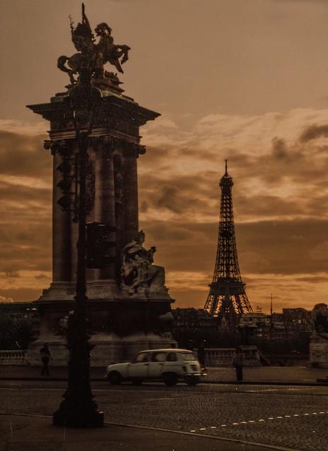 sunset in Paris, 1982...