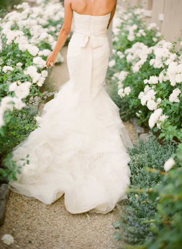 Wedding Dresses Inspiration  : Grossgrain ribbon belt: www.stylemepretty... Photography: KT Merry - www.ktmerry... - #WeddingDresses