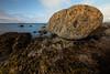 Glacial boulder in the Scottish Highlands