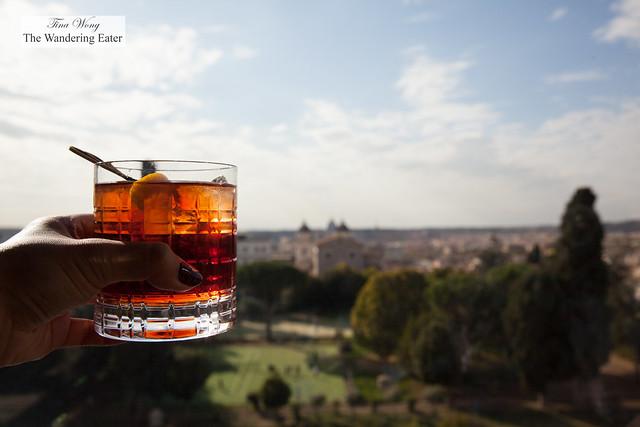 Negroni Speziato with a view