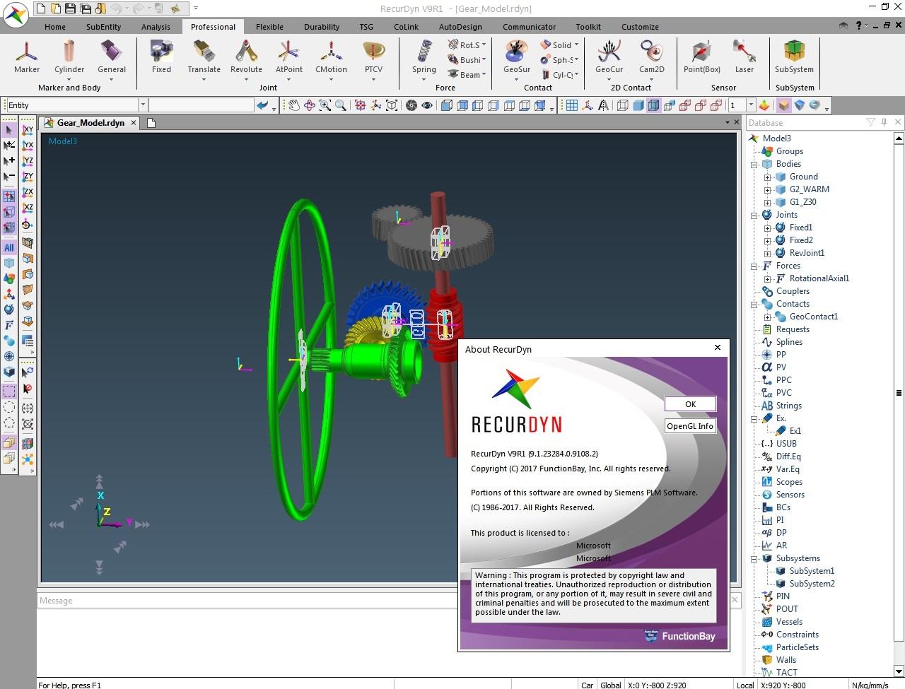Working with FunctionBay RecurDyn V9R1 full license