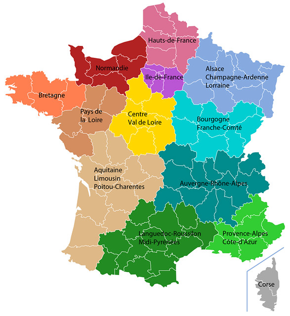 Les nouvelles régions