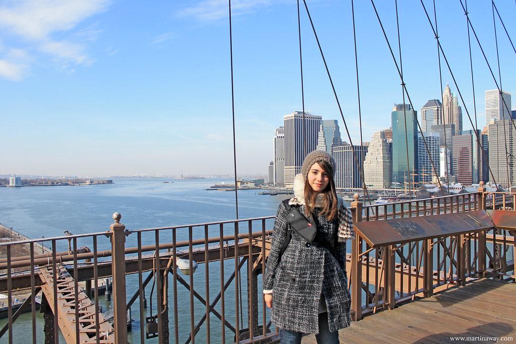 Sul ponte di Brooklyn
