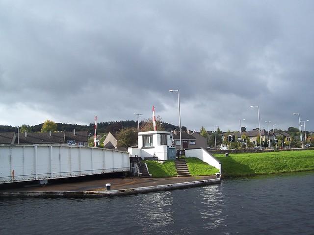 Muirtown Locks Swing Bridge, Caledonian Canal, Inverness, Oct 2017